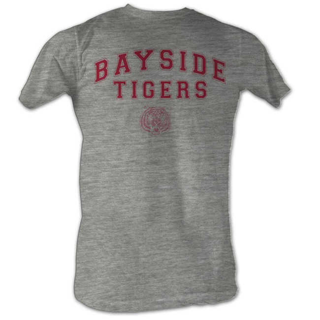 Saved by the Bell Bayside Tigers Classic Gray Heather T-Shirt