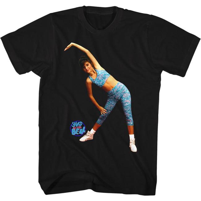 Saved by the Bell Aerobics Black T-Shirt