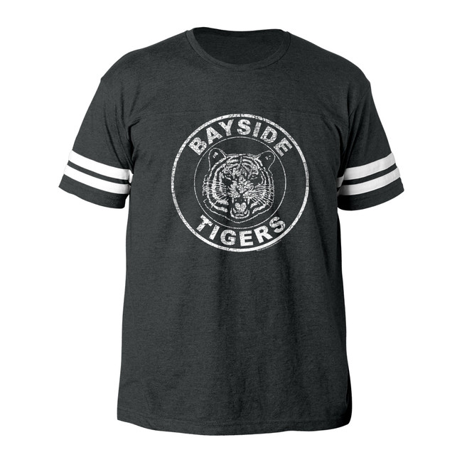 Saved by the Bell Bayside Tigers Vintage Smoke Adult Football T-Shirt