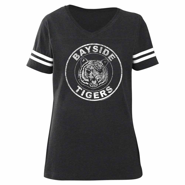 Saved by the Bell Bayside Tigers Vintage Smoke Ladies Football T-Shirt