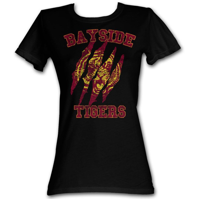 Saved by the Bell Bayside Claws Black Junior Women's T-Shirt
