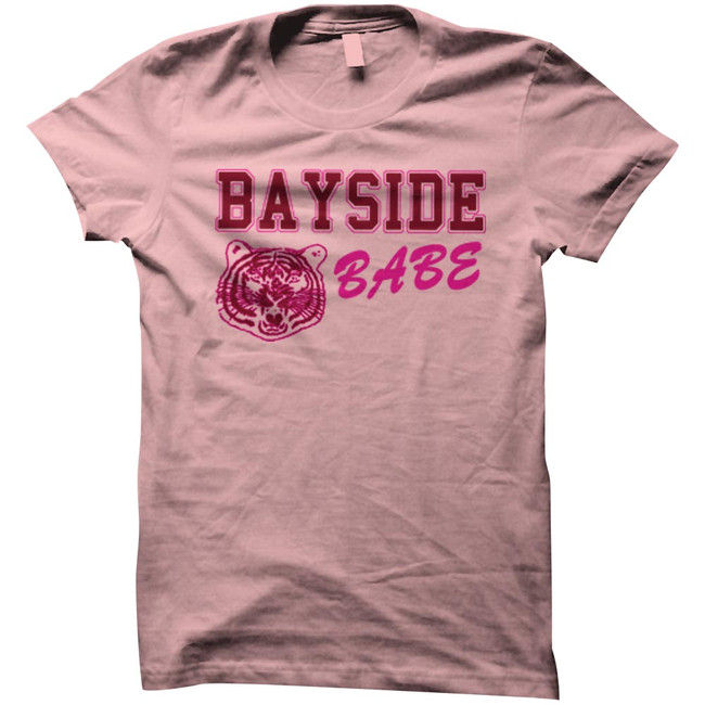 Saved by the Bell Bayside Babe Light Pink Junior Women's T-Shirt