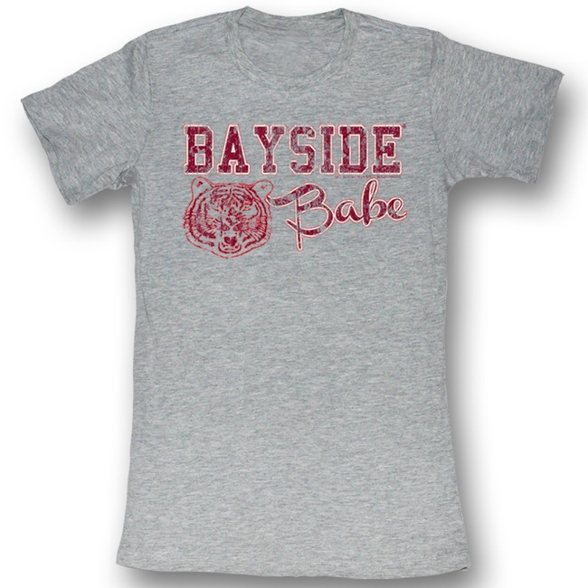 Saved by the Bell Bayside Baby Gray Heather Junior Women's T-Shirt