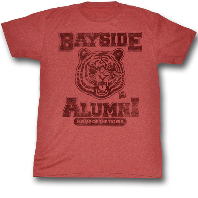 Saved by the Bell Bayside Alumni Red Heather T-Shirt