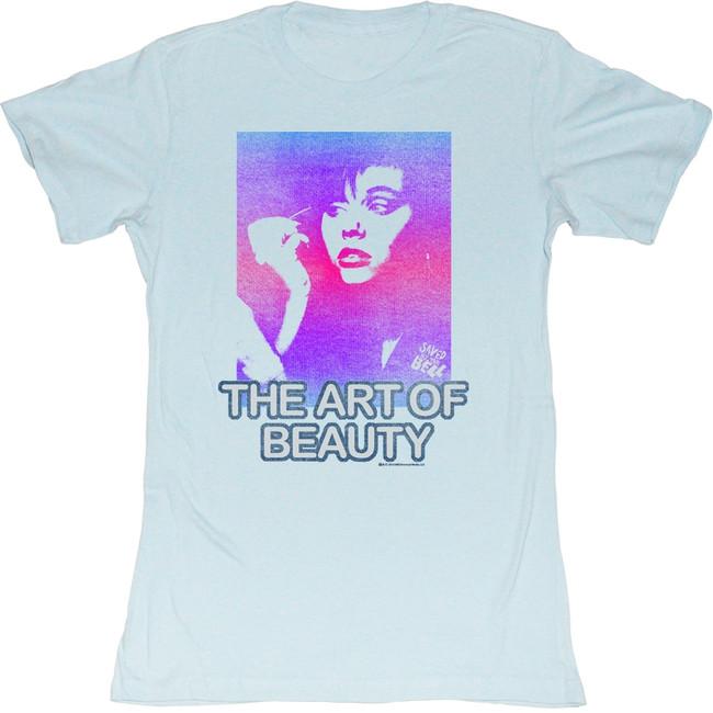 Saved by the Bell Art Of Beauty Light Blue Junior Women's T-Shirt