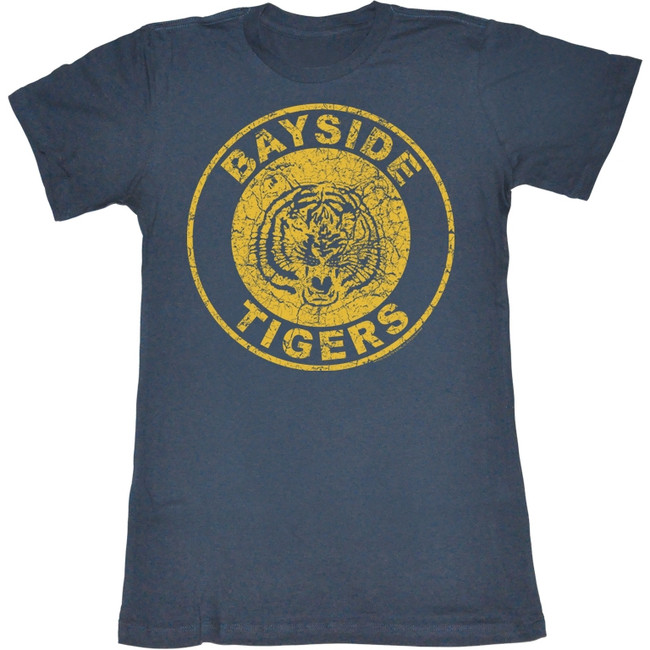 Saved by the Bell Bayside Tigers Navy Junior Women's T-Shirt
