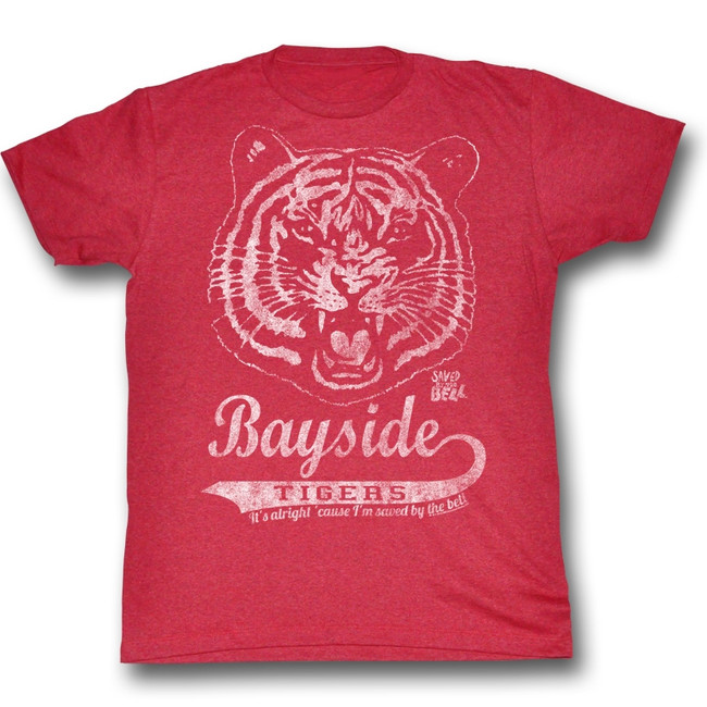 Saved by the Bell Bayside Vintage Cherry Heather T-Shirt