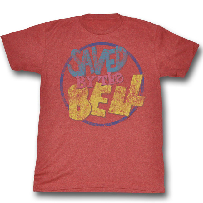 Saved by the Bell Distressed Logo Red Heather T-Shirt