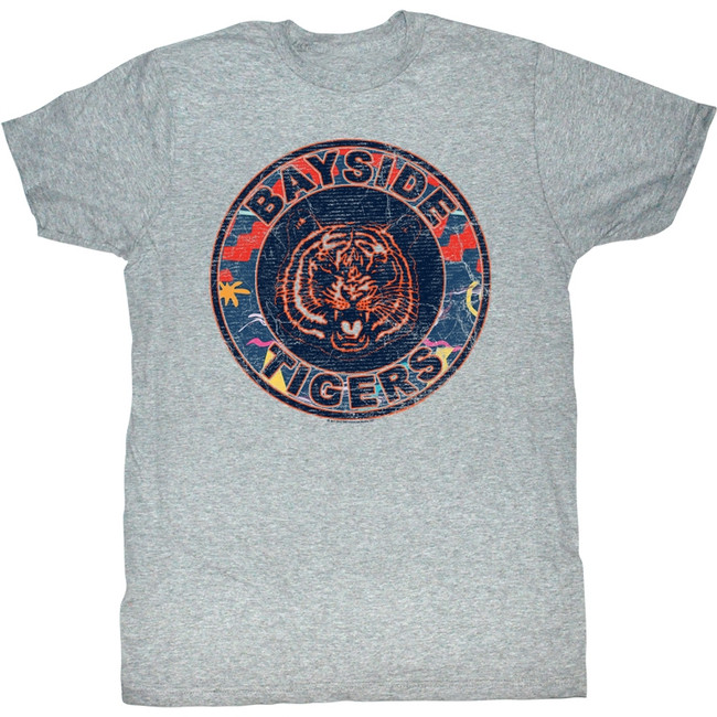 Saved by the Bell 80's Logo Gray Heather T-Shirt