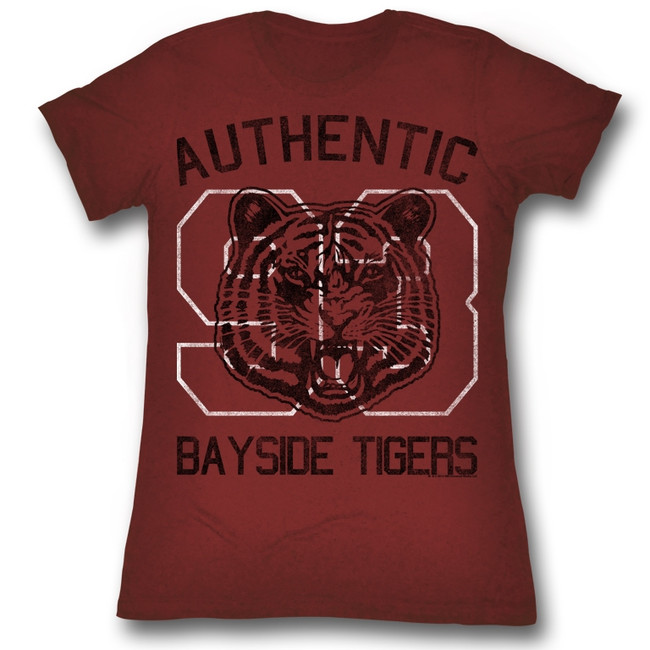 Saved by the Bell Authentic Red Heather Junior Women's T-Shirt