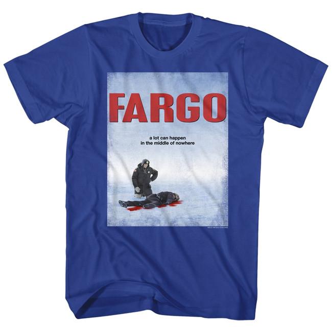 Fargo Poster Royal Adult T-Shirt
