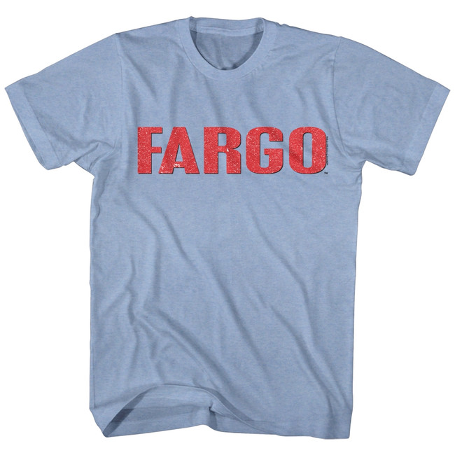 Fargo Logo Light Blue Heather Adult T-Shirt