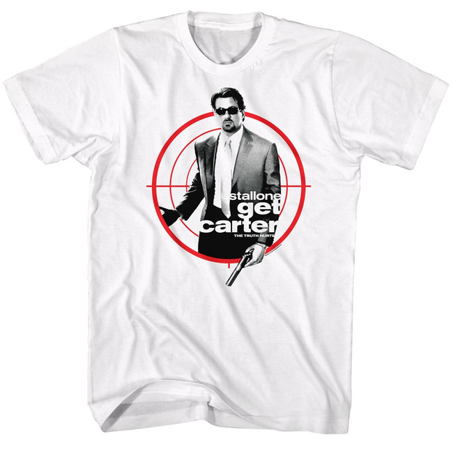 Get Carter Poster Target White Adult T-Shirt