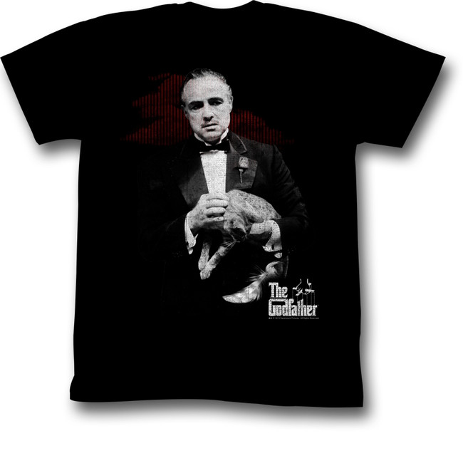 Godfather Contemplation Black Adult T-Shirt