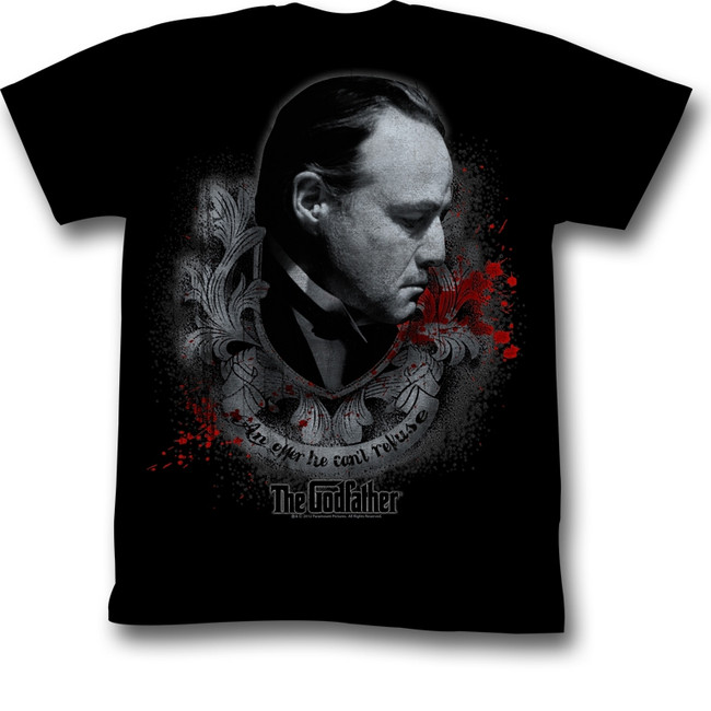 Godfather Showing Respect Black Adult T-Shirt