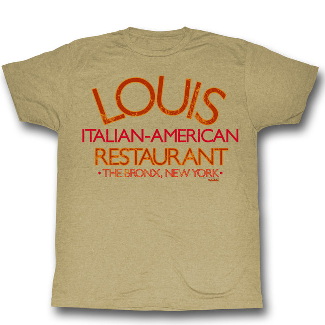 Godfather Louis Restaurant Khaki Heather Adult T-Shirt