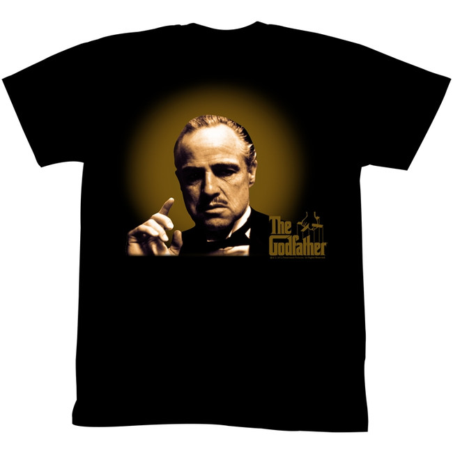 Godfather Glowing And Showing Black Adult T-Shirt