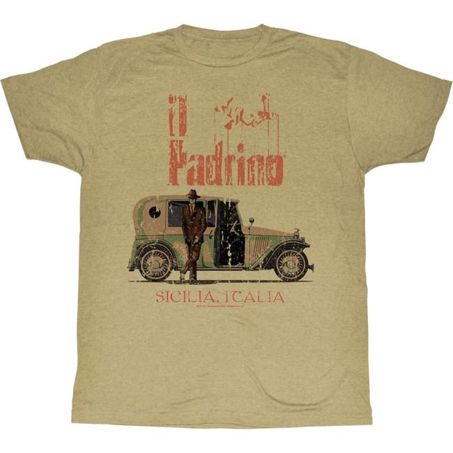 Godfather Il Padrino Khaki Heather Adult T-Shirt