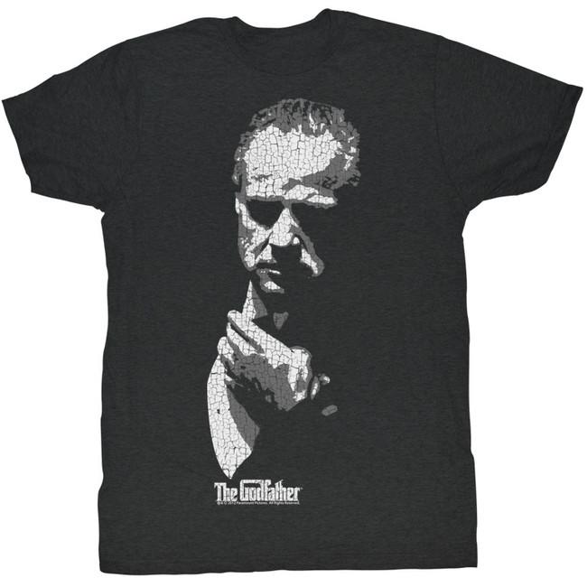 Godfather Shadow Black Heather Adult T-Shirt