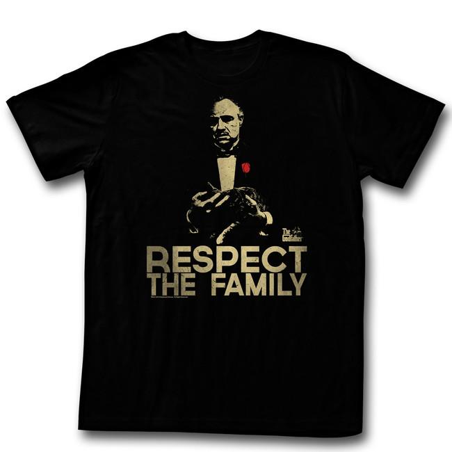 Godfather Respect Black Adult T-Shirt