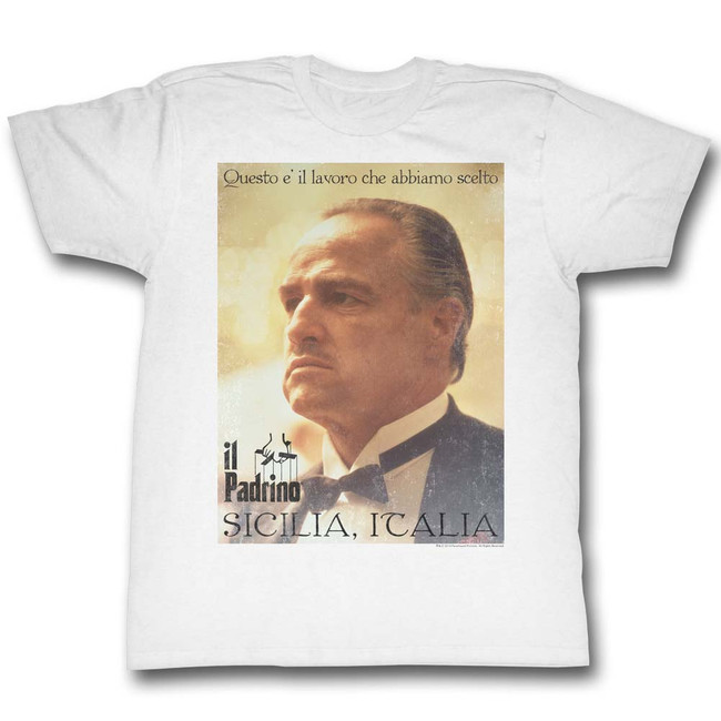 Godfather Poster White Adult T-Shirt