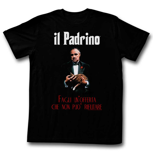 Godfather Poster Black Adult T-Shirt