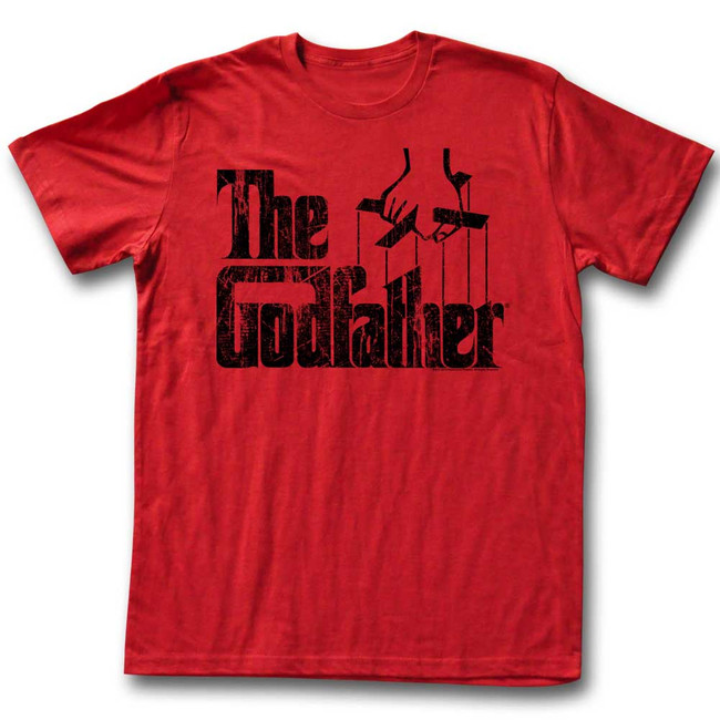 Godfather Logo Black Red Adult T-Shirt