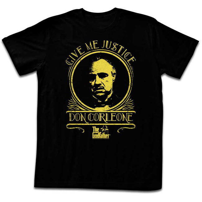 Godfather Classic Justice Black Adult T-Shirt
