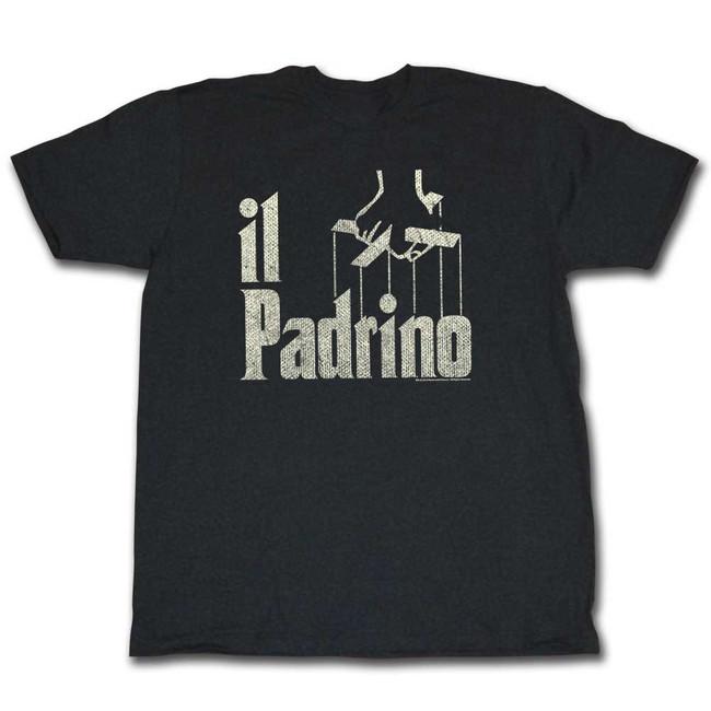 Godfather Padrino Black Heather Adult T-Shirt