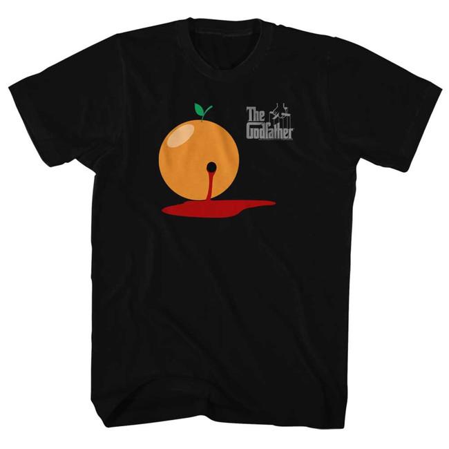 Godfather Blood Orange Black Adult T-Shirt