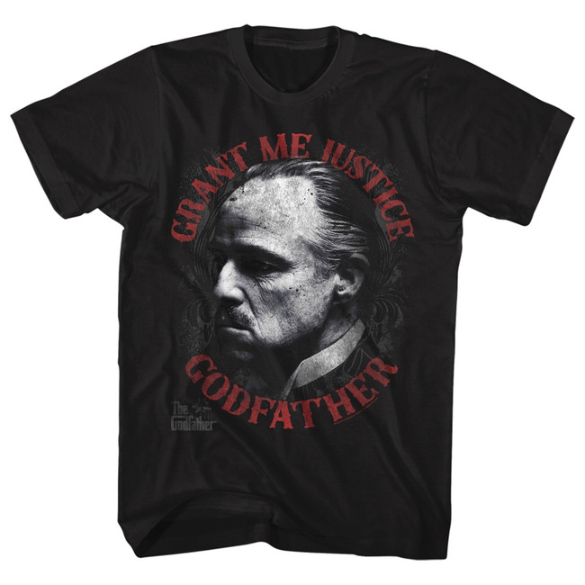 Godfather Justice Classic Black Adult T-Shirt