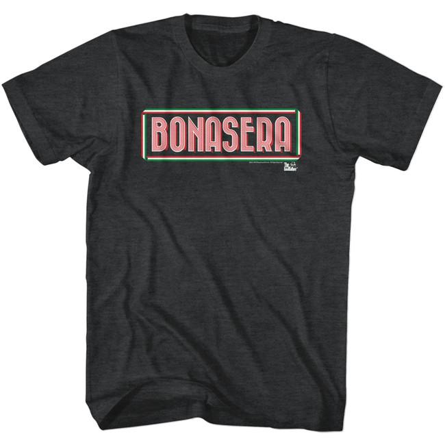 Godfather Bonasera Black Heather Adult T-Shirt