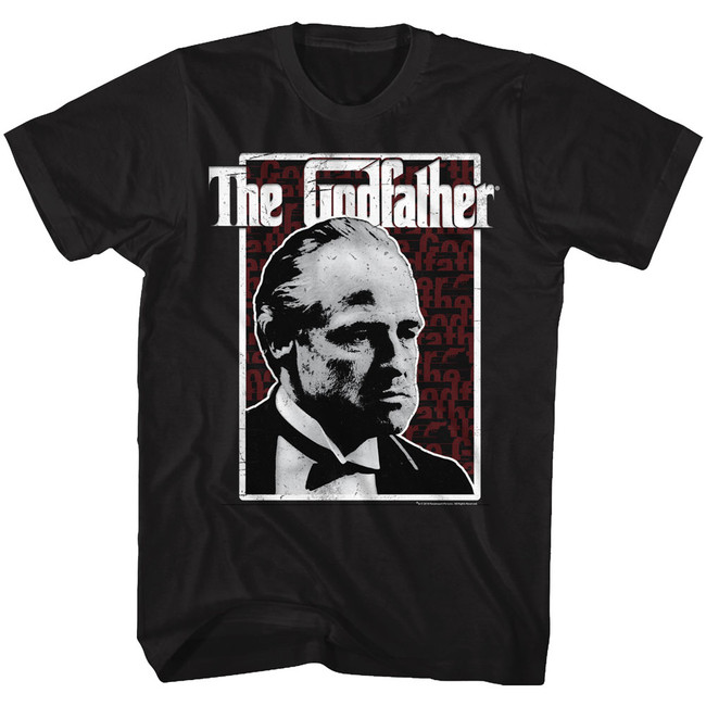 Godfather Seeing Red Black Adult T-Shirt