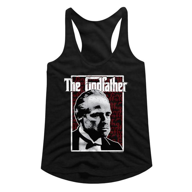 Godfather Seeing Red Black Junior Women's Racerback Tank Top T-Shirt
