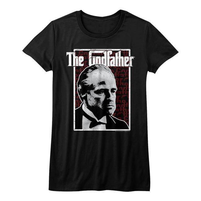 Godfather Seeing Red Black Junior Women's T-Shirt