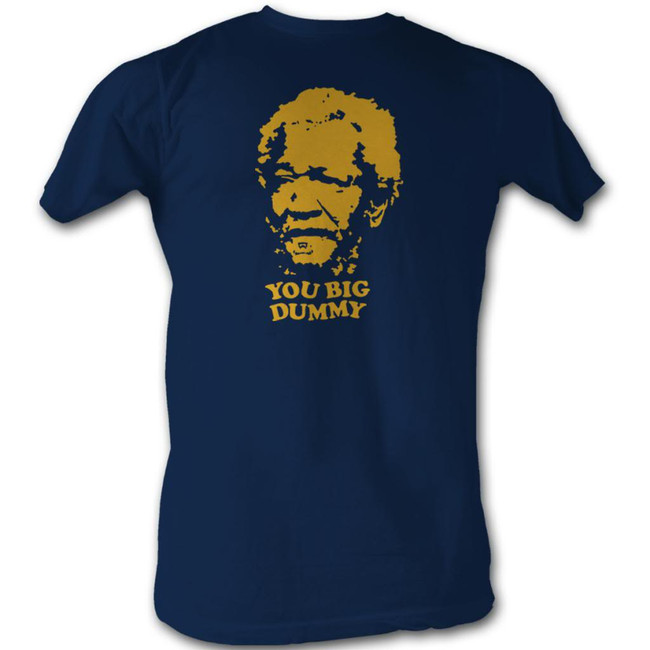 Redd Foxx Sanford and Son Big Dummy Navy T-Shirt