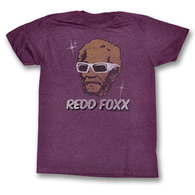 Redd Foxx Sanford and Son Stars Vintage Maroon Heather T-Shirt