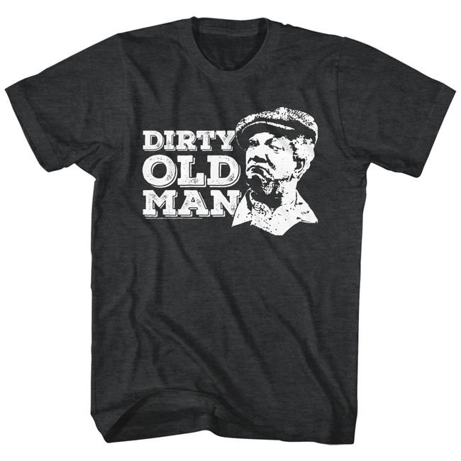 Redd Foxx Sanford and Son Dirty Old Man Black Heather T-Shirt
