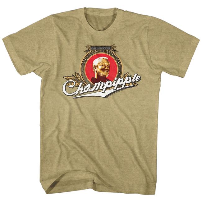 Redd Foxx Sanford and Son Champipple Khaki Heather T-Shirt