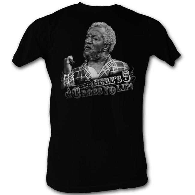 Redd Foxx Sanford and Son Heres 5 Black T-Shirt