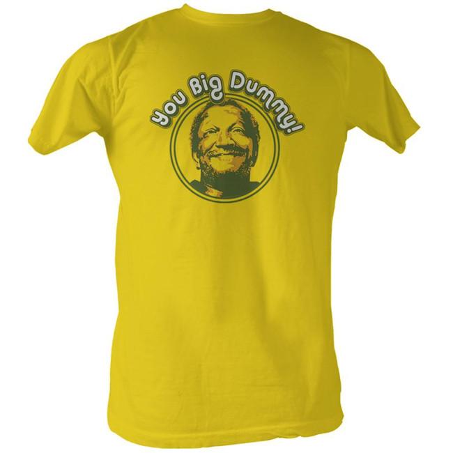 Redd Foxx Sanford and Son Vintage Dummy Yellow T-Shirt