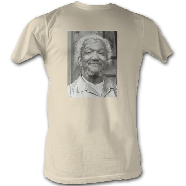 Redd Foxx Sanford and Son Square Picture Natural T-Shirt