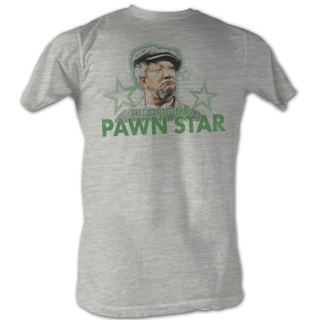 Redd Foxx Sanford and Son Pawn Star 3 Gray Heather T-Shirt