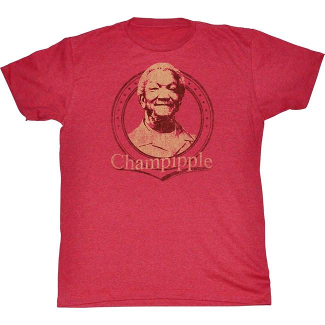 Redd Foxx Sanford and Son Champipple Cherry Heather T-Shirt