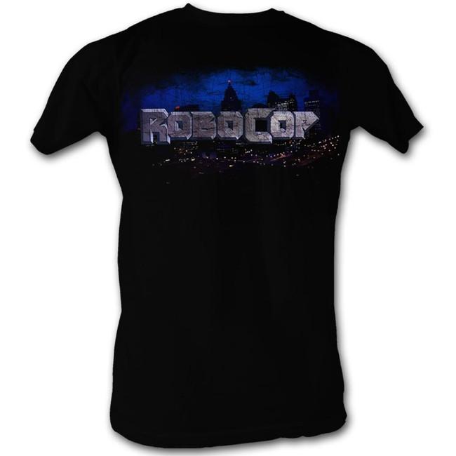 Robocop Cityscape Black T-Shirt