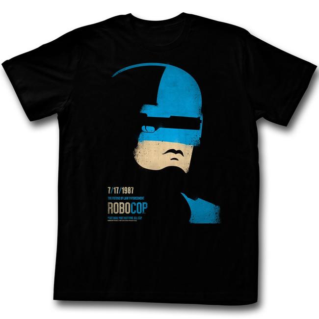 Robocop Minimal Black T-Shirt