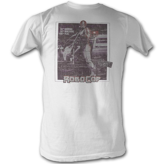 Robocop French Movie Poster White T-Shirt