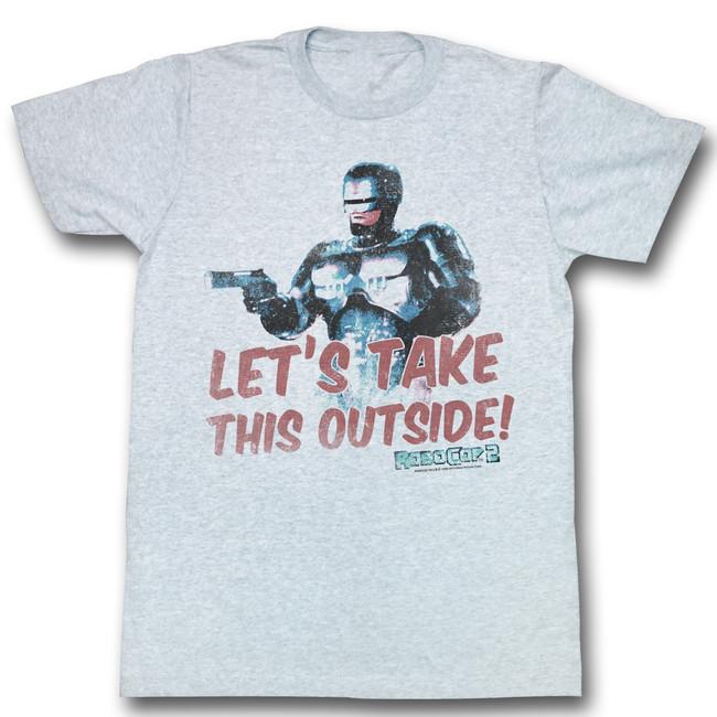 Robocop Outside Gray Heather T-Shirt