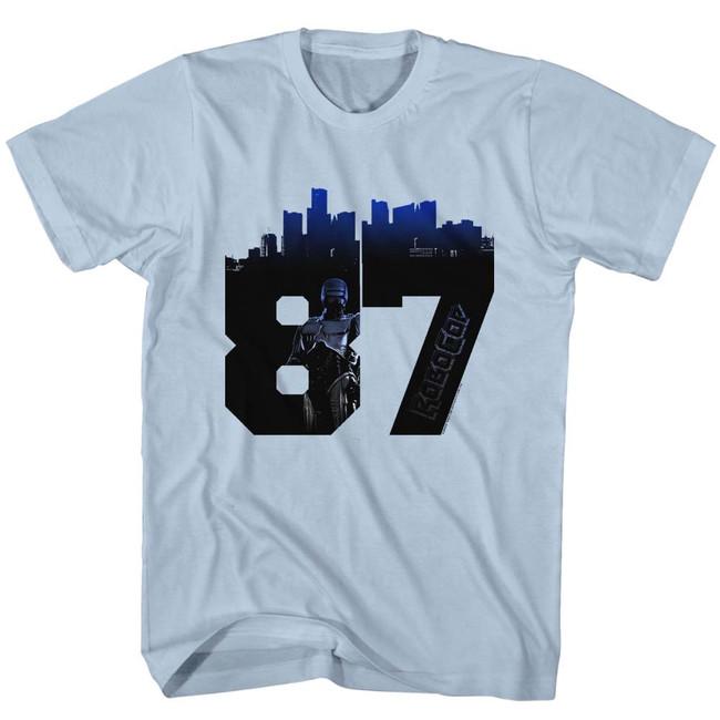 Robocop Numbacity Light Blue T-Shirt