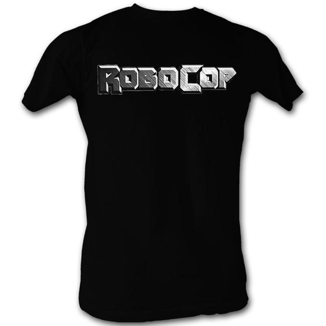 Robocop Logo In Silver Black T-Shirt